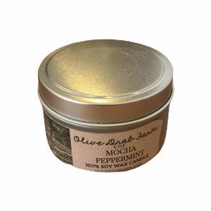 PEPPERMINT & MOCHA SOY CANDLE