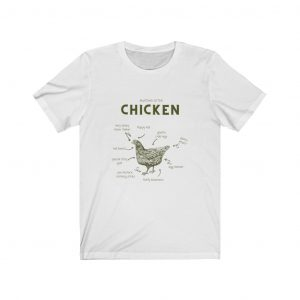 Chicken Anatomy –  Jersey Short Sleeve Tee