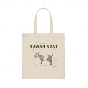 Goat Anatomy Canvas Tote Bag