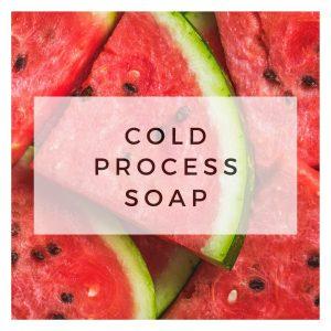 COLD PROCESS SOAP – WATERMELON THEME