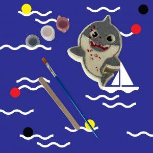 PAINT YOUR OWN BATH BOMB – BABY SHARK